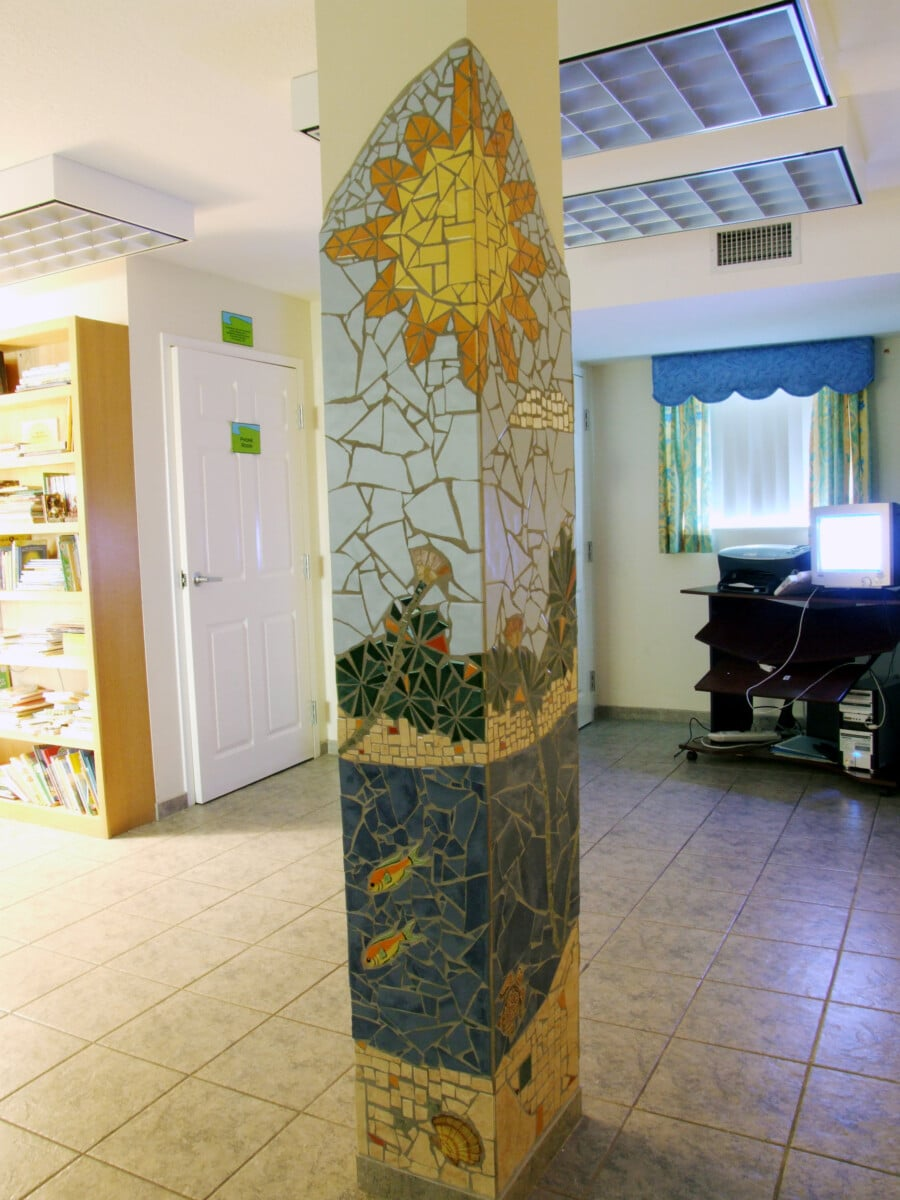 Ronald McDonald House Mosaic Column