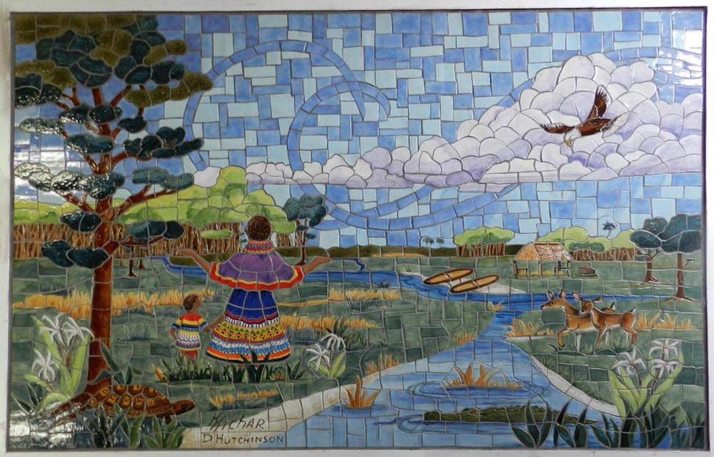 Marshell Bridge Mosaic Tile Murals